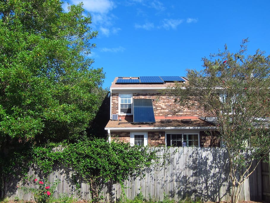 In addition to numerous other sustainability features, my home generates more than 80% of its energy needs via a solar water heater and 9 photovoltaic panels.