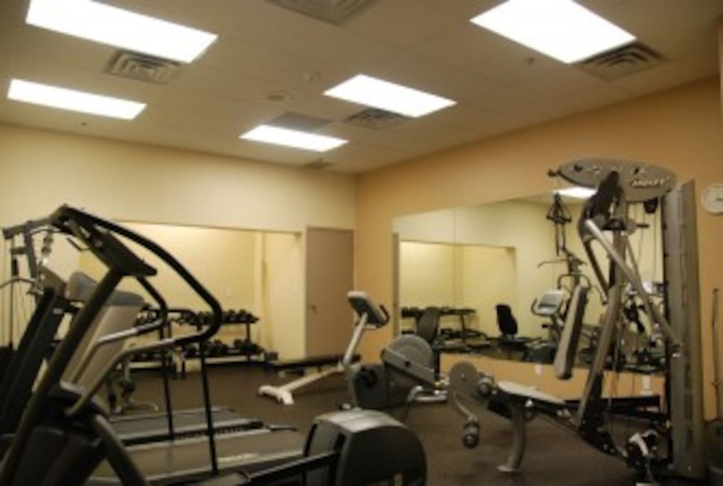 Stay in shape in the gym