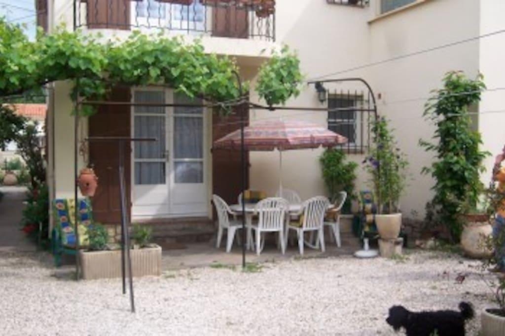 terrasse appartement  rez de jardin