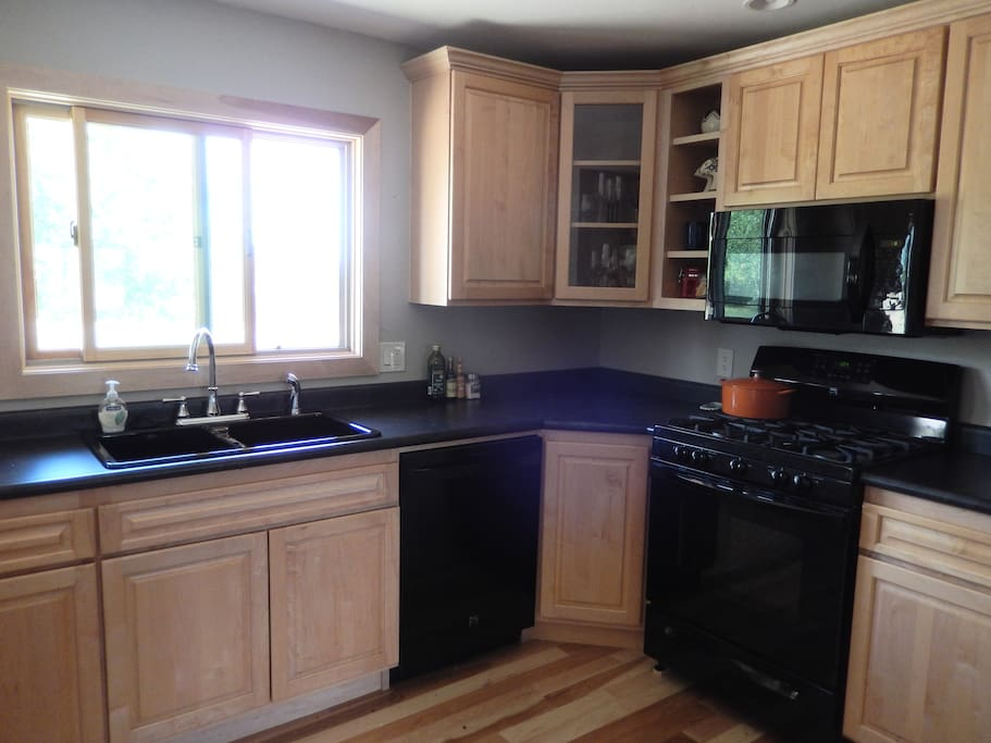 Enjoy views of the Bookcliffs and Grand Mesa from the kitchen.