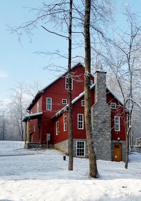 Red Cabin by the Blue Ridge