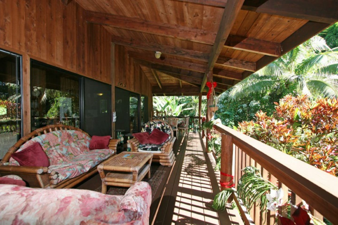Tropical Old Hawaii location in a mango forest