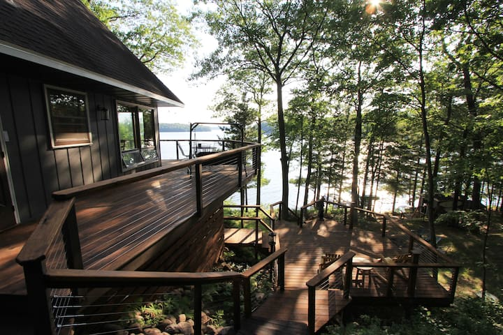 """Our Happy Place"" on gorgeous Lake Tomahawk"