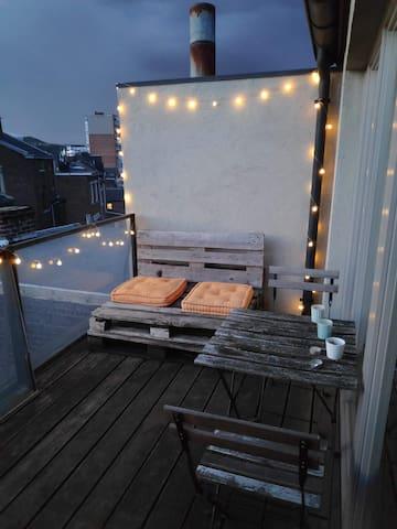 Chaleureux duplex situé à Liège