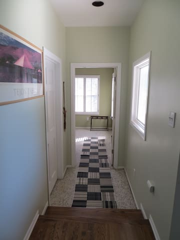 Hall to bedroom