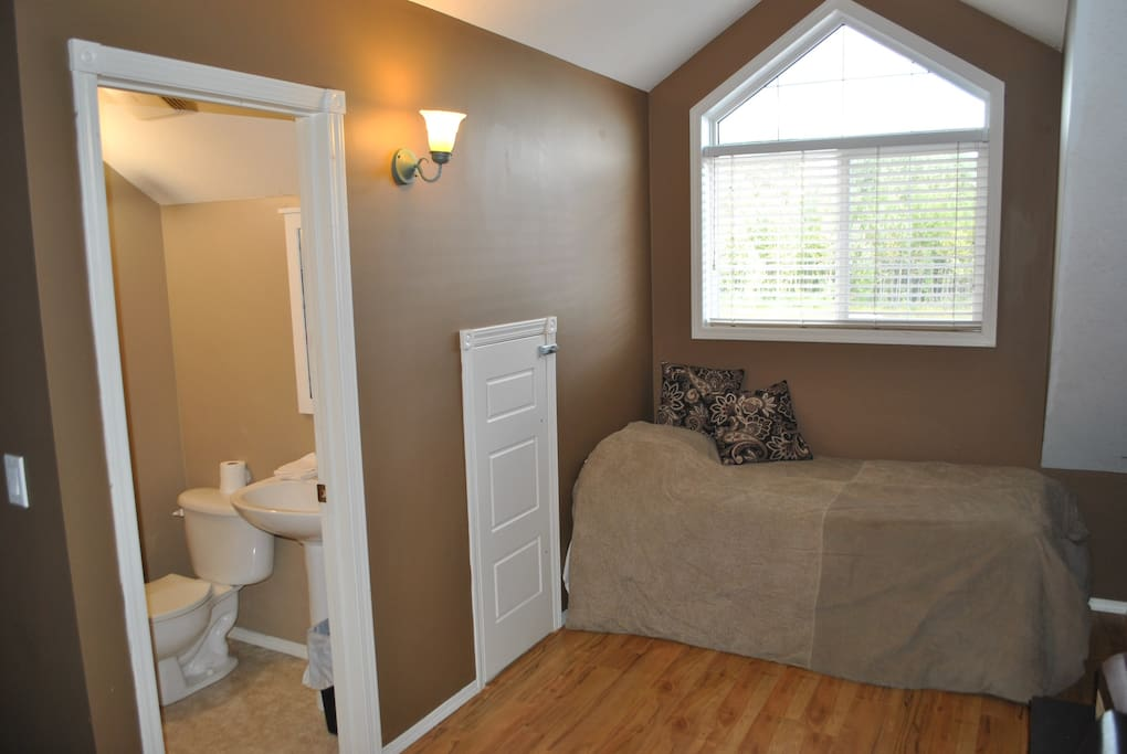 Twin Bed and Half Bath