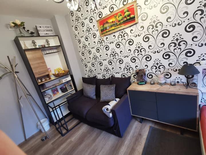 Zimmer mit Sofa, netflix, WLAN , Bahnhof-,BZE nah