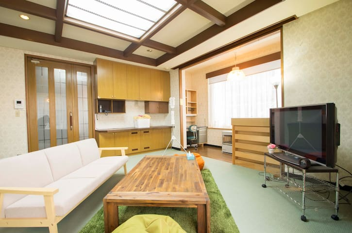 Large house near JR station/Free parking 【領収書発行可】 - Sapporo - Huis