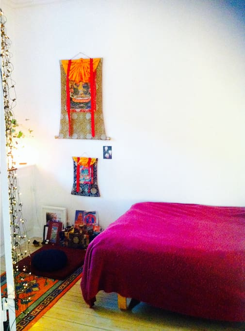 Cosy bedroom with meditation alter :-)