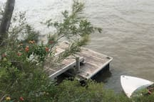 Private pontoon access to the River via a staircase