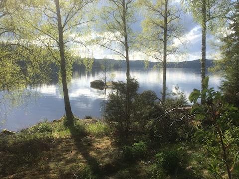 Summer cottage at beautiful lake Racken