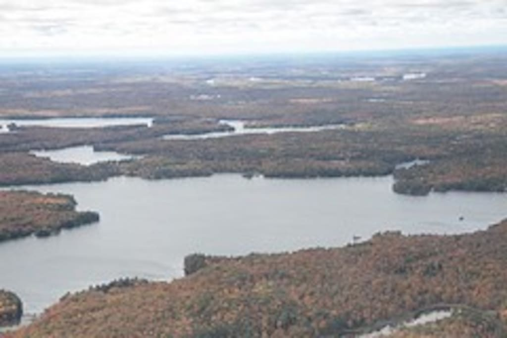 Aerial View of chain of lakes