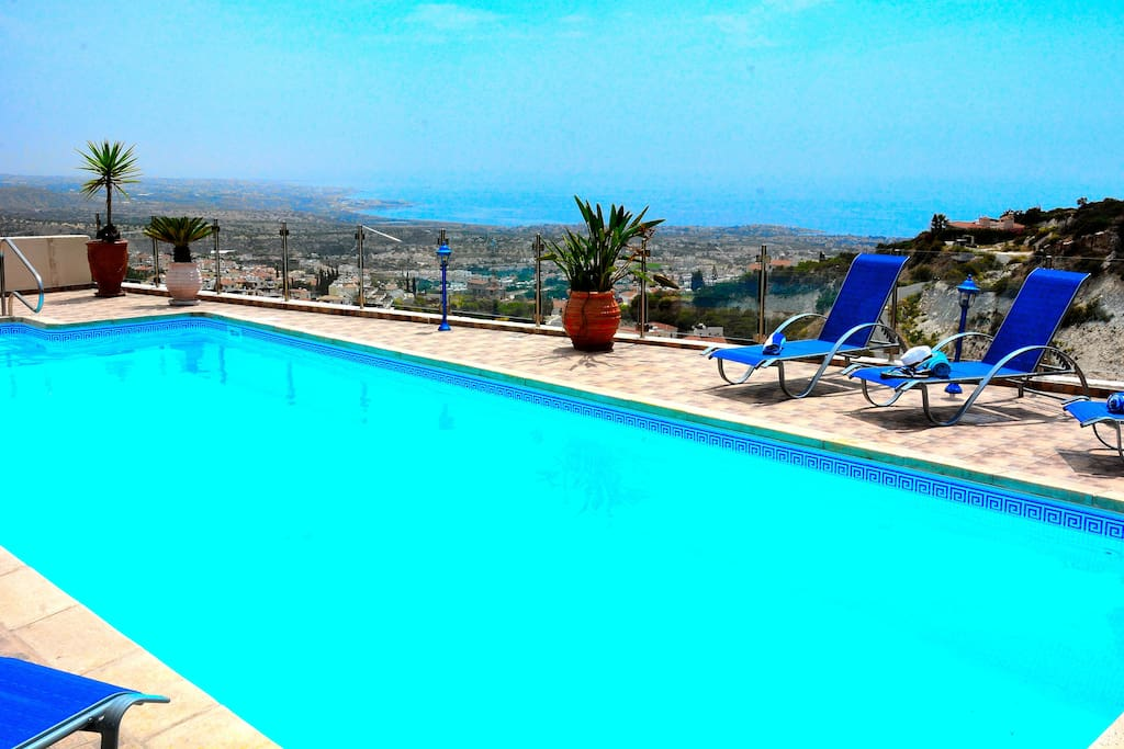 "The stunning panoramic  ""View"" of the sea and Paphos beyond"