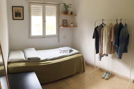 Bright room in quiet Jerusalem neighborhood