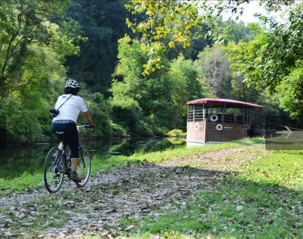 We are a close bike ride or car ride to the Canal Path and to Hugh Moore Historic Park which offers Canal Boat rides in season! There are plenty of great biking trails just moments away from our apartment.