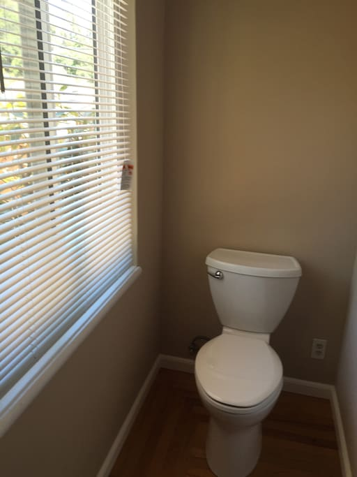 Private bathroom with new toilet