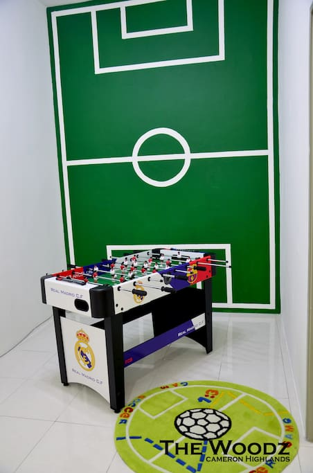 Family Hall with Soccer Table Game