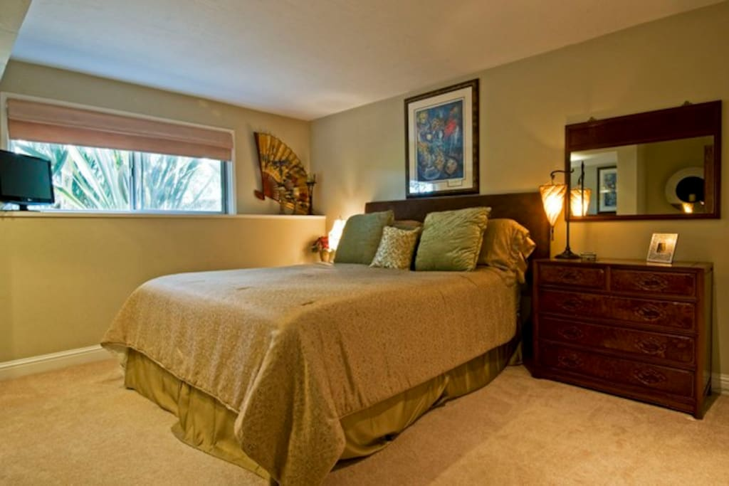 Comfortable king master suite.