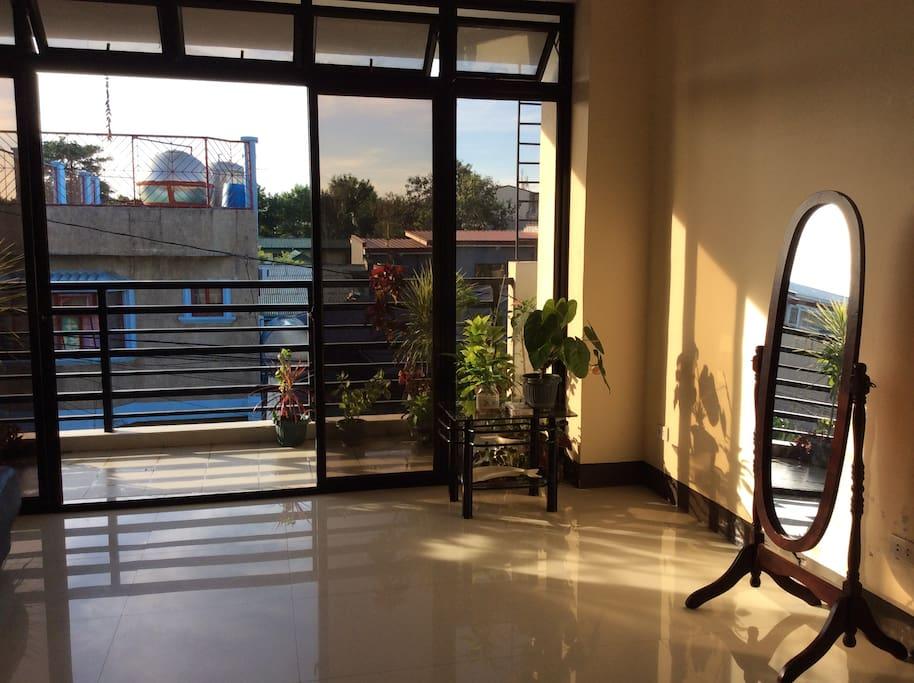 Living room at natural ventilation