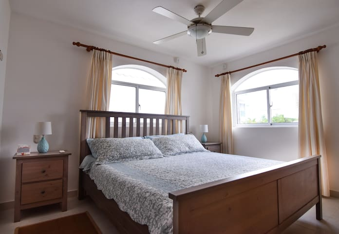 Master Bedroom with A/C and Automatic blackout shutters