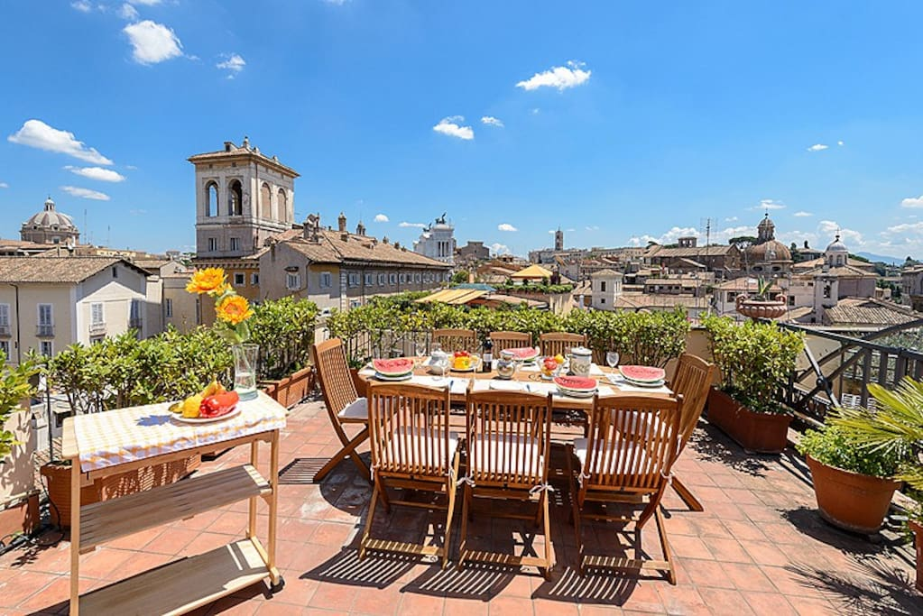 Old rome 4br 3ba panoramic terrace apartments for rent for The terrace apartments