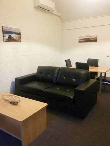 Living room with foldout couch