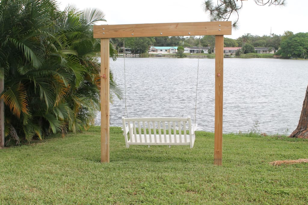 Swing to enjoy the beautiful weather