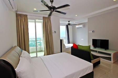 V) FAMILY STUDIO SUITE WITH 2 BEDS_GEORGETOWN@市区套房 - George Town
