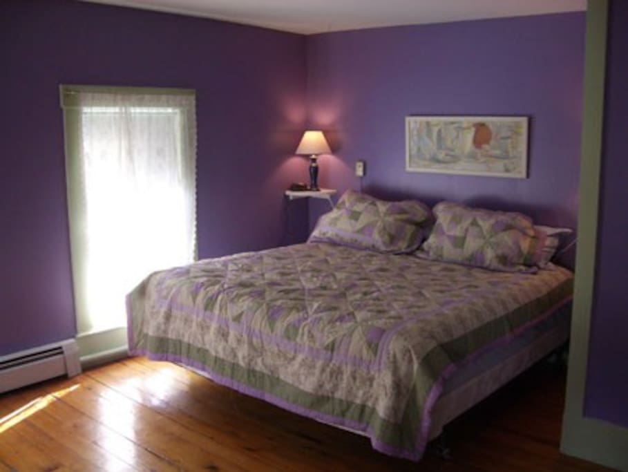 Lavender room - king sized bed, includes its own bathroom