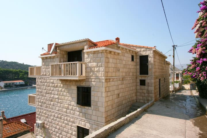 Studio flat with terrace and sea view Povlja (Brač) (AS-2954-a)