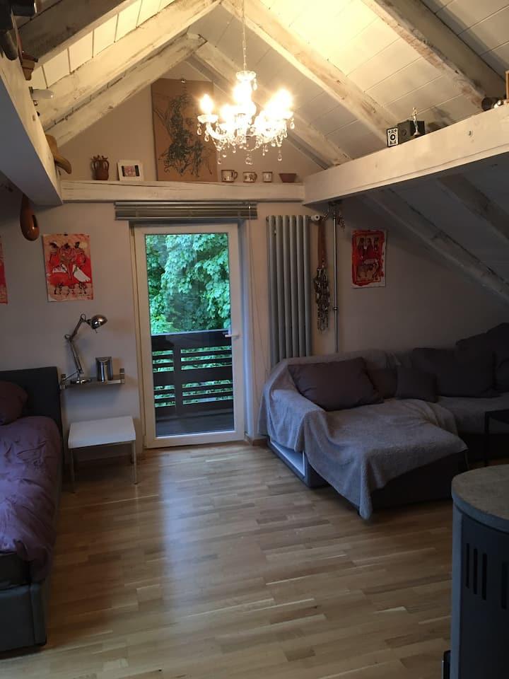 Designer Dachgeschosswohnung mit Balkon