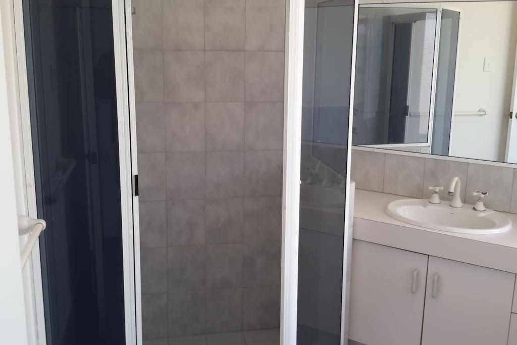 Bathroom shower and bath