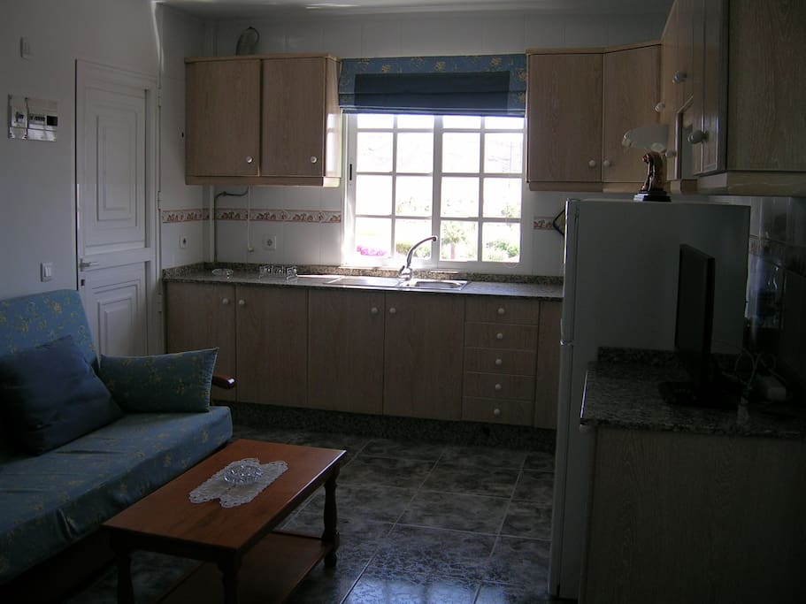 Fully equipped kitchen with TV and international channels
