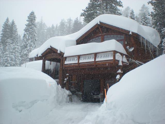 We get some BIG snow in Tahoe