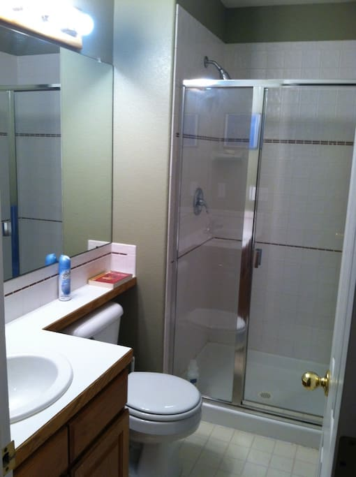 Your private bathroom next door to your bedroom