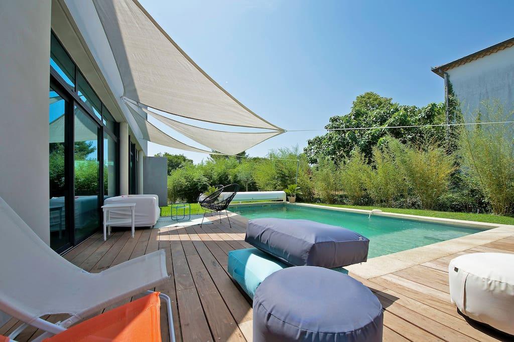 Terrasse autour de la piscine / Ipe terrace