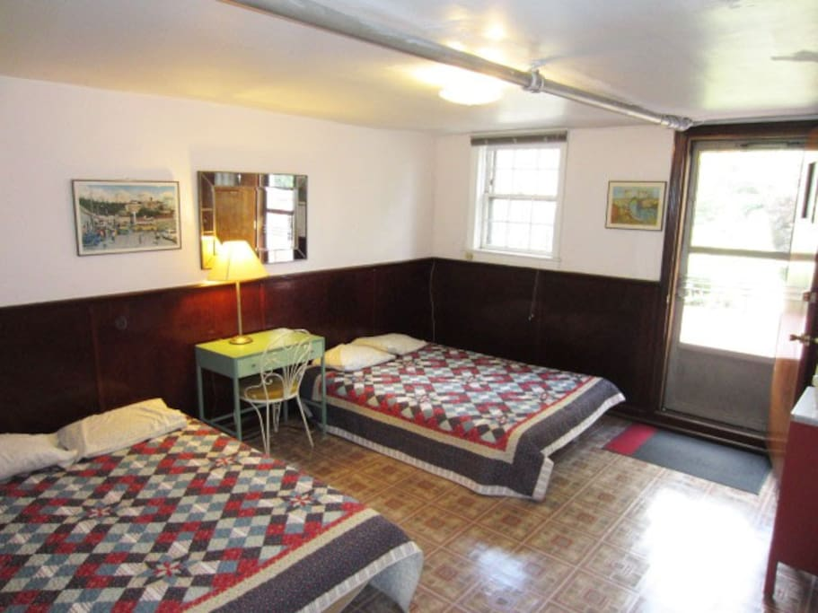 """the bedroom  """"This was our 3rd time staying at Dennis' place. Everything is as described and welcoming. The location is great. The the subway stop is at the end of the block. There is a health food store, a grocery store, several drug stores and a shopping center. Very safe neighborhood."""" Dec. 2016"""