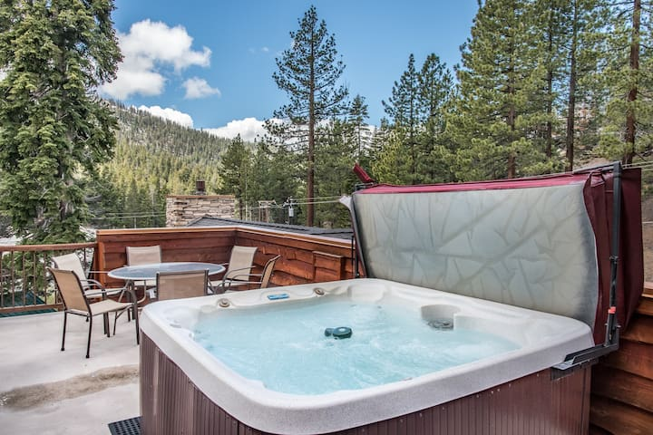 Enjoy stunning views from the rooftop hot tub