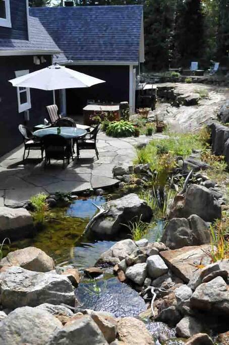 Prendre un repas au chants des cascades d'eau...