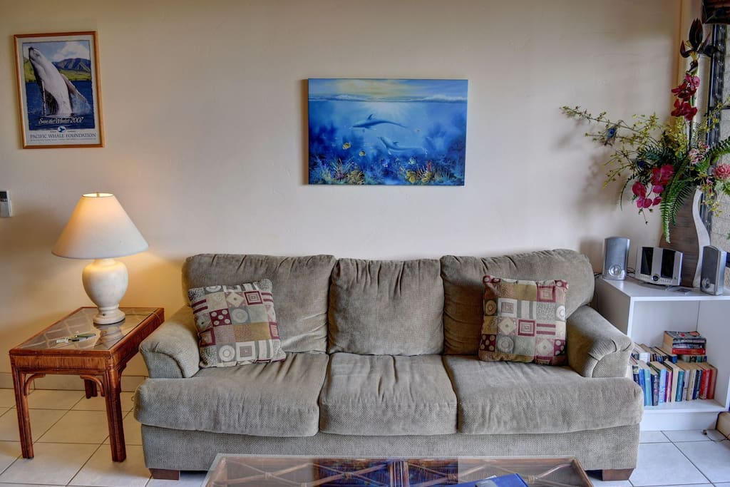 Comfortable sofa to relax on