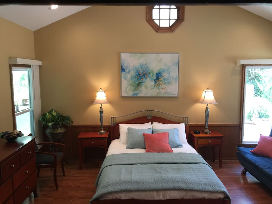 Master Bedroom with high celling