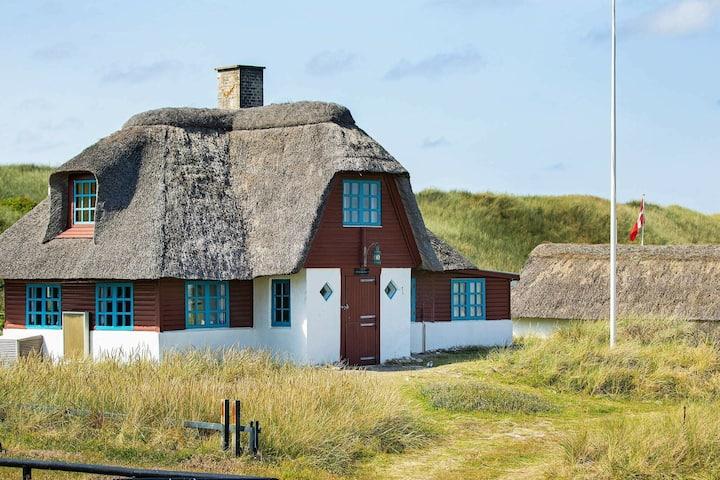 Casa vacanze tranquilla a Ulfborg con camino