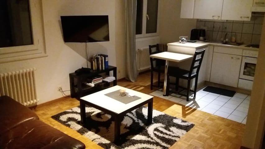 Appartement lit double avec chambre et cuisine - Préverenges - Departamento