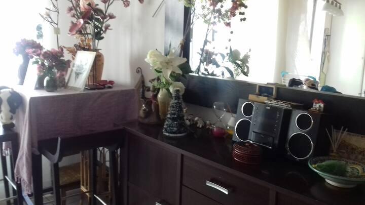 Chambre privée dans un appartement.