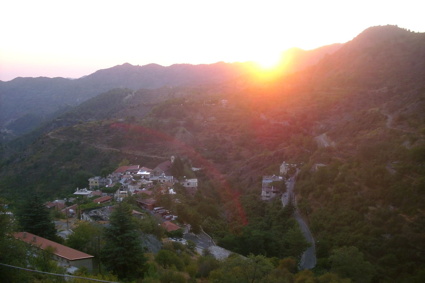 SUNRISE. VIEW FROM BALCONY