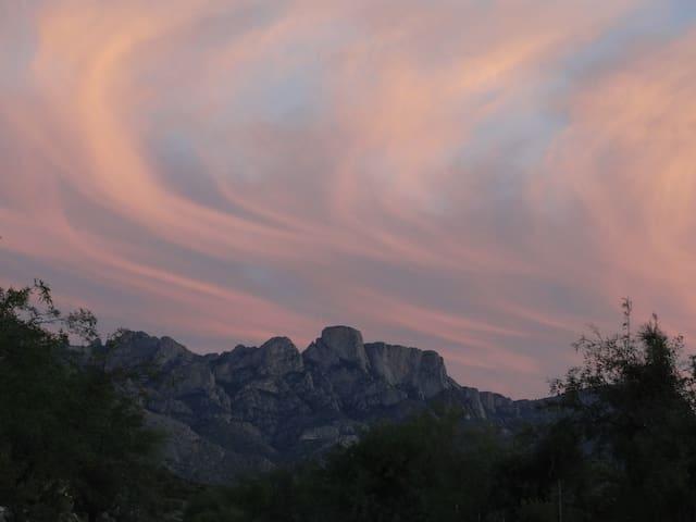 Sunset east over Santa Catalina Mountains