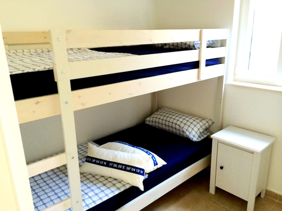 Second bedroom with bunk bed for two children or those who are young at heart