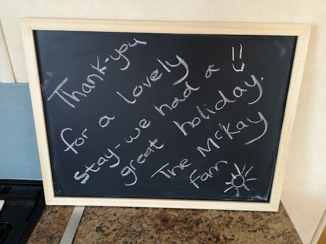 Lovely message from happy guests.