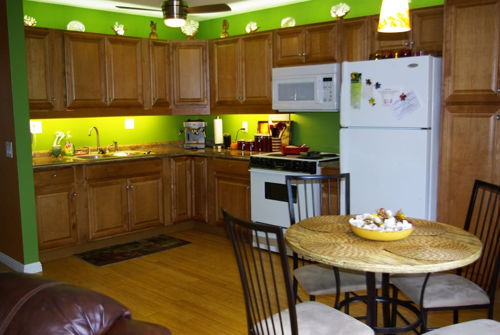 Cooking full meals for your family is a breeze in our newly remodeled kitchen.