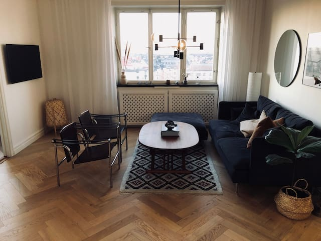 Centrally located apartment with a view